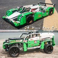 Decool 3364 DECOOL Technic 24 Hour Race Car SUV city model building blocks brick boy Toys childrens compatible legos 42039 20003