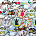 round glass cabochon owl mixed pattern fit cameo base setting for jewelry flatback 20pcs/lot TP-056-R