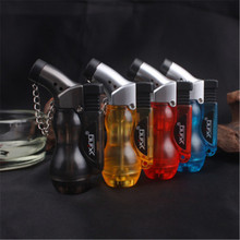 Portable Spray Gun Butane Jet Lighter Turbo Torch Lighter Cigar Fire Windproof Gourd Pipe Lighter 1300 C NO GAS