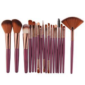 Image 2 - 18 stücke MAANGE Make Up Pinsel Set Werkzeug Kosmetische Pulver Lidschatten Foundation Blush Blending Schönheit Make Up Pinsel Maquiagem