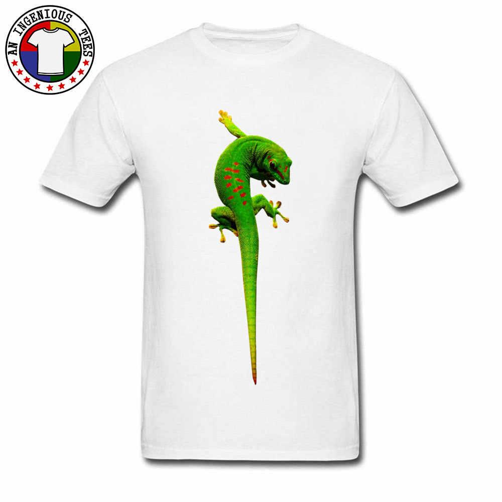 Südlichen Afrika Grün Gecko Bild Design T-shirts 2018 Mode Sommer T Shirt 3D Gedruckt Reptilia Tier Männlichen T-shirt Auf Verkauf