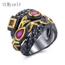 Большие черные кольца Женские Ювелирные изделия женские разноцветные