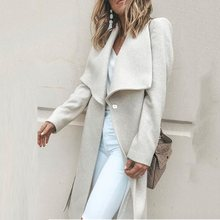 Casual White Simple Elegant Vintage Plus Size Women Trench Coats Loose Winter Bu