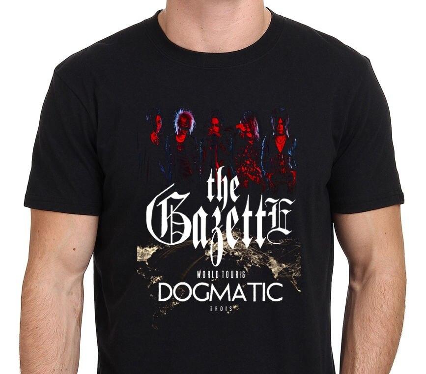 Movie T Shirts Men's Best Friend O-Neck The Gazette World Tour 2016 Dogmatic Trois Front&Back Men's T-Shirt Short-Sleeve Shirts