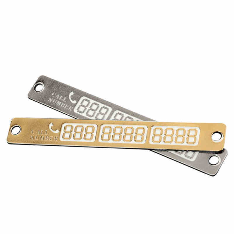 100 Pcs/Set Temporary Parking Card Luminous Car Phone Number Plate With Sucker Auto Accessories DXY88