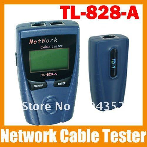 CAT5 RJ45 Network Cable Tester Meter Length LAN Phone,DHL/FEDEX Fast&Free shipping digital twisted wire meter test cat5 rj45 stp utp lan phone coaxial network cable tester