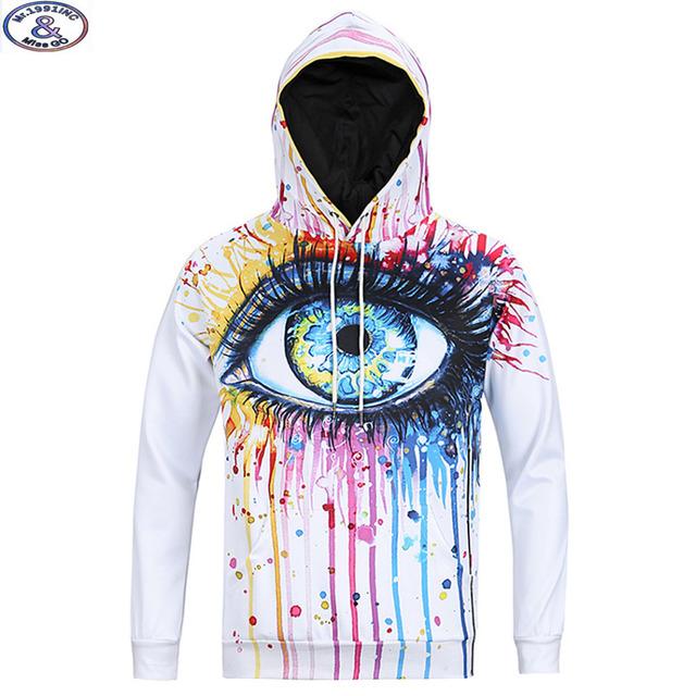 15-20 años niños grandes muchachos sudadera con capucha de marca de diseño especial 3D ojos de Graffiti impreso hip hop con capucha adolescentes niños hoody MH3