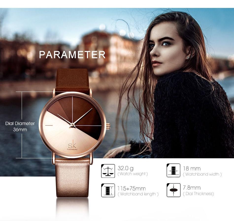 Luxury Leather Watches Women Minimalist Creative Fashion Quartz Watch Reloj Mujer 2018 Simple Ladies Wrist Watch Bayan Kol Saati (7)