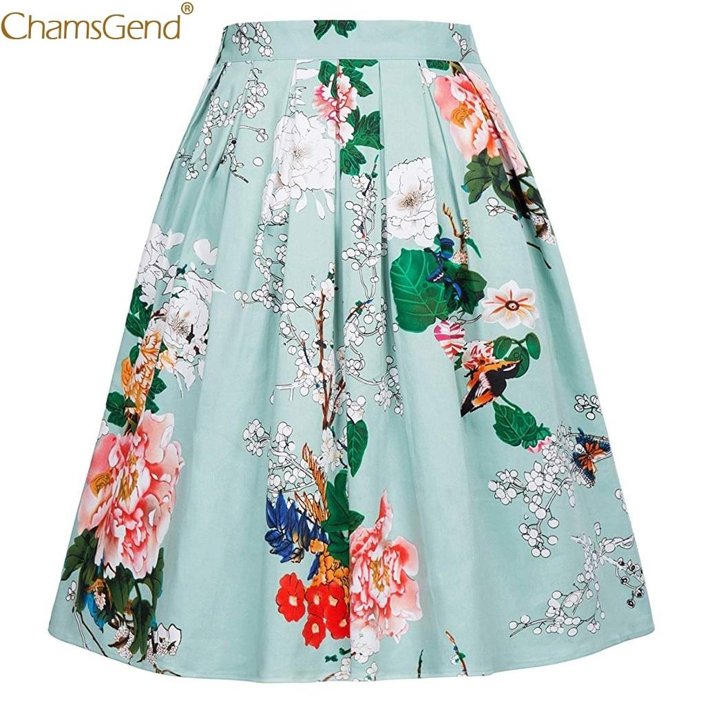Casual Tutu Waist skirts womens plus size skirts womens female long skirts for women high quality Half-Length Print Mar11