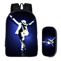 Men S Bacpack Bag Student Backpacks Michael Jackson Nylon Printing Cool School Bags Bolsos Mujer DIY