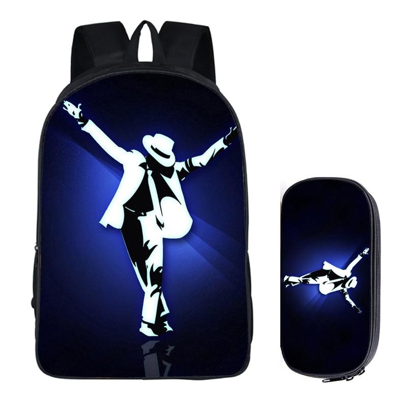 Men's Bacpack Bag Student Backpacks Michael Jackson Nylon Printing Cool School Bags Bolsos Mujer Diy Travel Backpack Book Bag