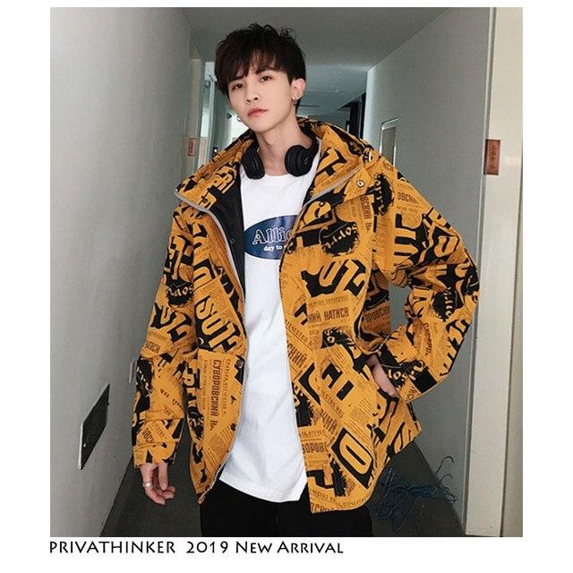 Privathinker Uomini Hip Hop Bomber Giacca 2019 Uomo Designer Streetwear  Giacca A Vento Giubbotti Cappotti Uomo Inverno Coreano Abiti Vintage 69fcd5e7eaa1