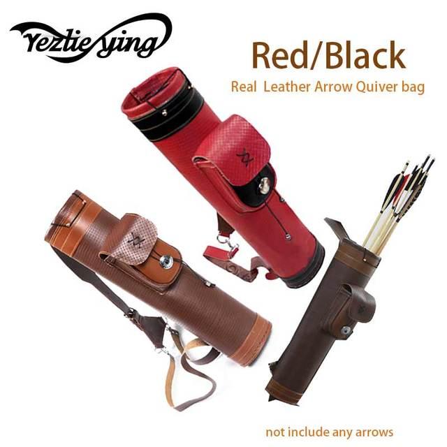Véritable cuir traditionnel tir à larc épaule dos carquois arc en cuir véritable porte-flèche sac chasse tir à larc matériel