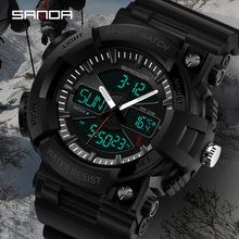 SANDA Fashion Military Watches Men Waterproof Mens Sports S Shock LED Electronic Wristwatches Relogio Masculino 2019
