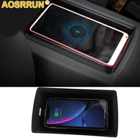 For Audi A3 2014 2015 2016 2018 2019 QI wireless charger Car fast charging phone holder Car Accessories Styling