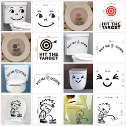 Funny Quotes Pattern Toilet Stickers For Home Decoration Waterproof Vinyl Mural Art Diy 3d View Wc Wall Decals