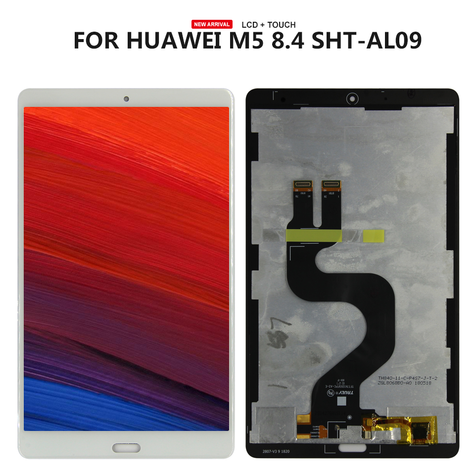 For Huawei MediaPad M5 8.4 SHT-AL09 SHT-W09 LCD Display and with Touch Screen Digitizer Assembly white lcd display touch screen digitizer assembly for huawei mediapad m3 lite 8 0 td lte cpn l09 cpn w09c