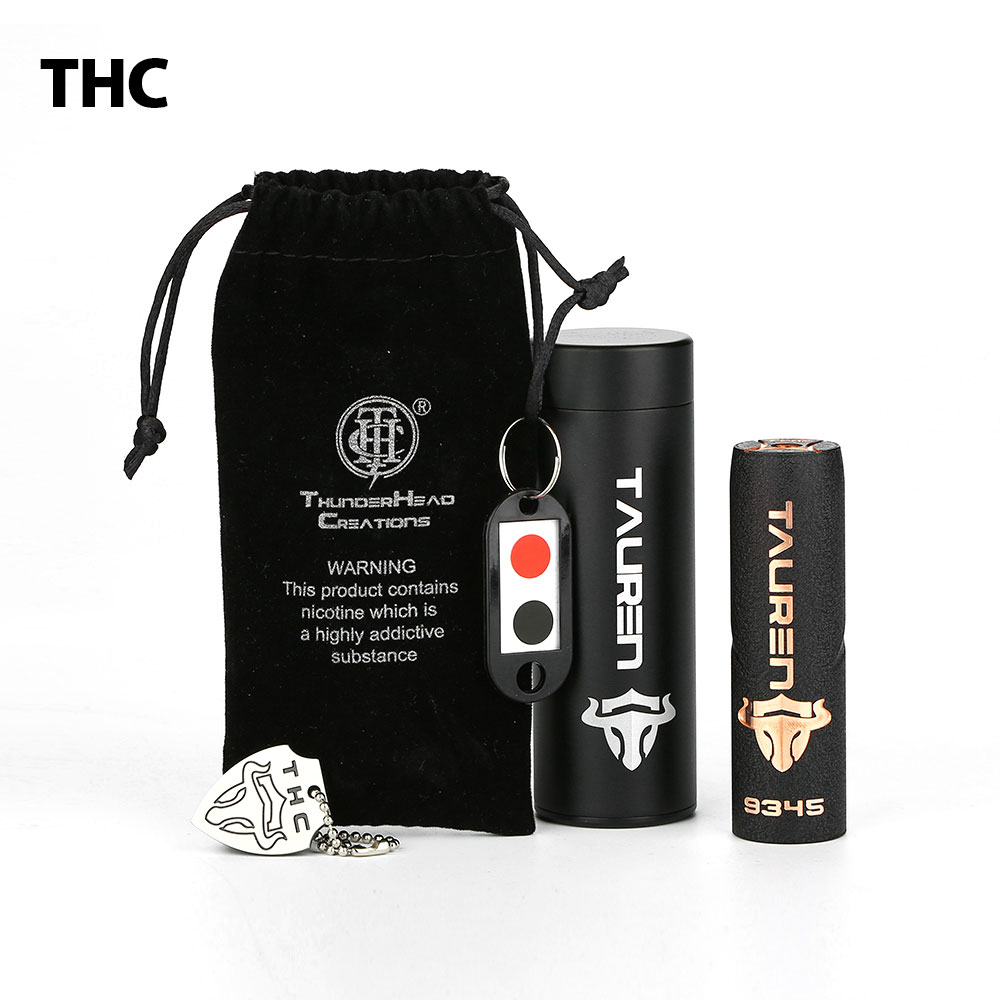 New THC Tauren Mech Mod with Innovative 360 Full Contact Button Quick Firing Speed No 18650