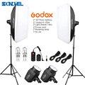 Студийный стробоскоп Godox K150A 300Ws  300 Вт 2*150 Вт  освещение для фотосъемки в студии с софтбоксом  комплект с триггером для вспышки  освещение для ...