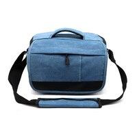 SLR DSLR Digital Canvas Camera Case Shoulder Bag Backpack For Nikon Canon Sony Pentax Olympus Camera Protective Case Pouch