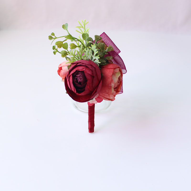 Wedding Corsages and Boutonnieres men groom artificial flowers  (16)