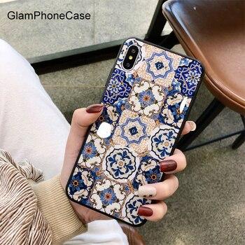 GlamPhoneCase สไตล์ชาติพันธุ์ดอกไม้ทองฟอยล์สำหรับ iphone XS Max XR XS 8 8 plus 7 7 plus 6 /6 S Plus Soft TPU ปกหลัง