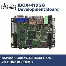 ARM Cortex-A9 четырехъядерный процессор S5P4418 макетная плата 2G DDR3 8G EMMC встроенный wifi/BT встроенный