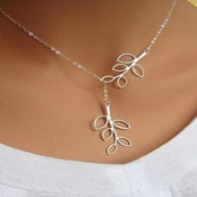 AliExpress explosion models simple leaf tassel short necklace cross necklace free shipping Fashion Jewellery(China)