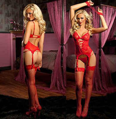 אדום תחרה סקסי נשים סיסי חג המולד גבירותיי הלבשת תחתונה הלבשה תחתונה מקשה אחת חליפות חמות למכירה