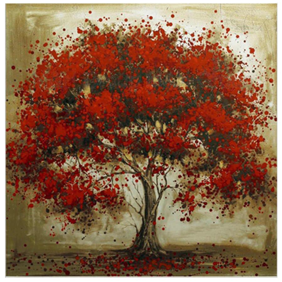 Сделай Сам, алмазная вышивка, Дерево Красный цветок, 5D, алмазная живопись, вышивка крестиком, набор, 3D, Алмазная мозаика, украшение, Рождество, настенное искусство, подарок
