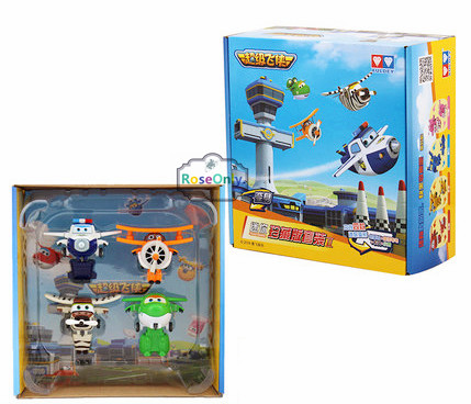4pcs/lot Super Wings Mini Planes Deformation Airplane Robot Action Figures Changeable Toys action toy figures Super Wings 15 cm jimbo super wings mini airplane abs robot toys action figures super wing transformation jet animation children kids gift