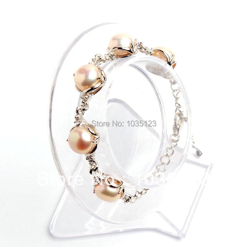 ღ ღEnvío libre regalo 10mm moda bastante rosa perla dorada Marcos ...
