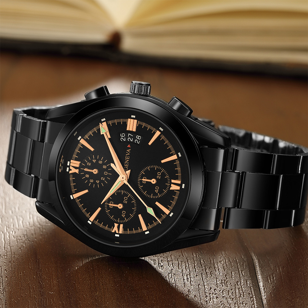 Watches For Men Stainless Steel Quartz Analog Date Wrist Watch Sport Relojes Para Hombre Saat Erkekler Relogio Masculino 2019