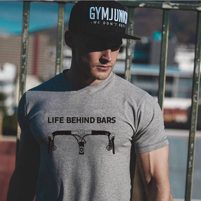Us 699 27 Offluslos Life Behind Bars Tees Funny Bicycle Sayings Triathlon Cycling Mountain Bike T Shirt In T Shirts From Mens Clothing On