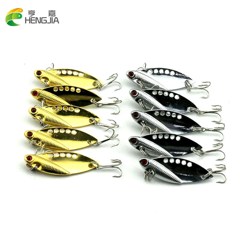 100PCS 5CM 11G hard metal VIB fishing lures sequin wobbler pike carp trout perch catfish fishing baits pesca fishing tackles