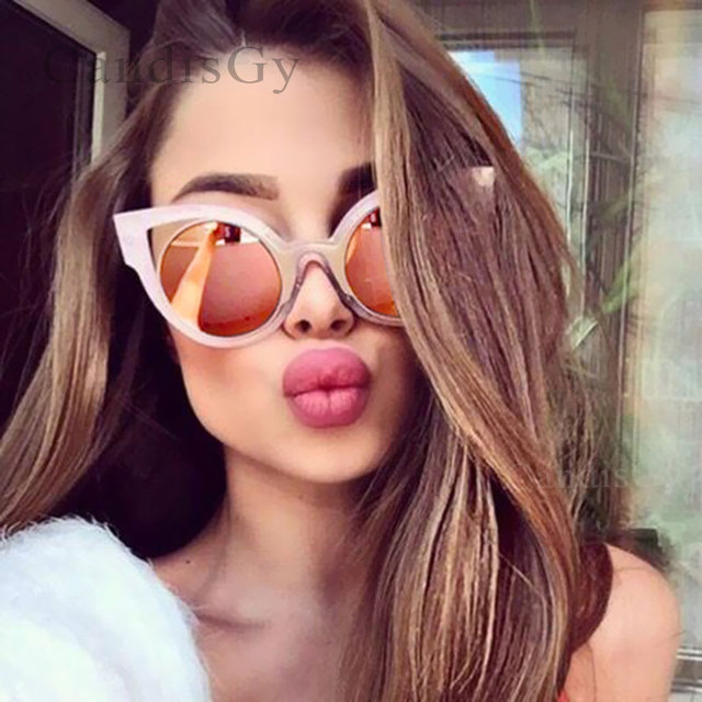 69d57949cb CandisGY Round Small Fashion Women Brand Designer Size Mirror Cateye  Sunglasses Party Vintage Beach Lady Sun Glasses
