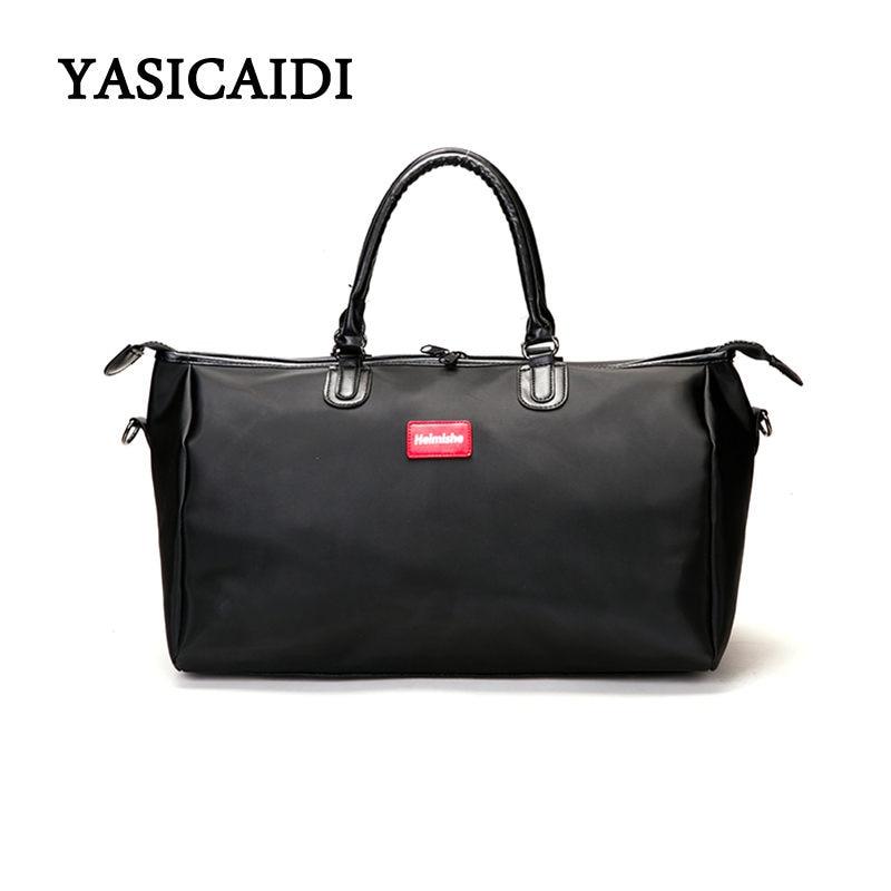 Fashion Waterproof Nylon Women Travel Bags Large Capacity Ladies Multifunction Handbags Weekend Portable Shoulder Bags 2018