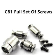 クモナイフ C81 ネジクモハンドルネジ C81Para/2 ブレードねじチタン合金爪 edc ナイフ C81 フルセットのネジ