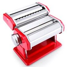 Edelstahl Pasta Making Machine Rot Siver Deluxe Pasta Maschine Nudelhersteller