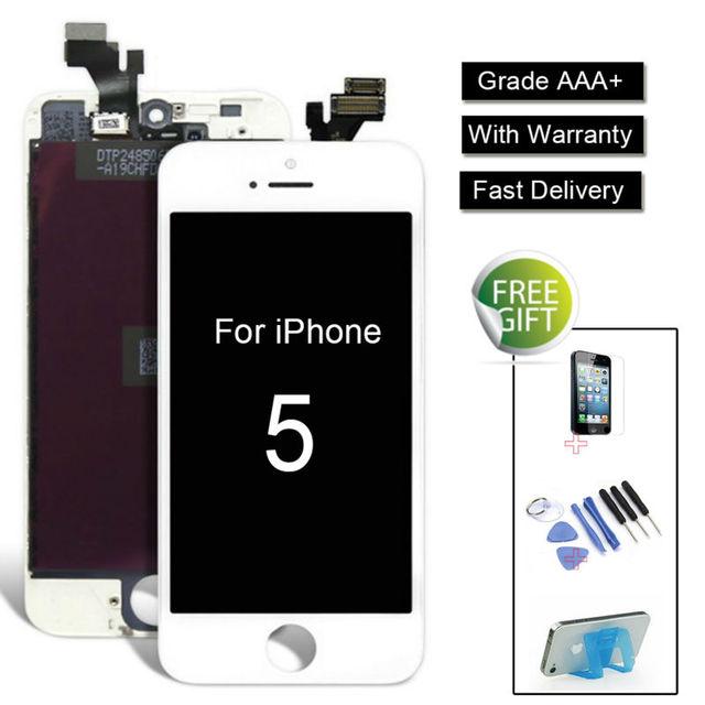Venta aliexpress para iphone 5 5s 5c lcd retina pantalla táctil reemplazo del digitalizador de pantalla + Frame + Vidrio Templado + regalo Herramientas