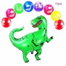 New baby animal Giant Dinosaur Foil Balloon Happy Birthday Party Decoration kids air dot jurassic world baloon