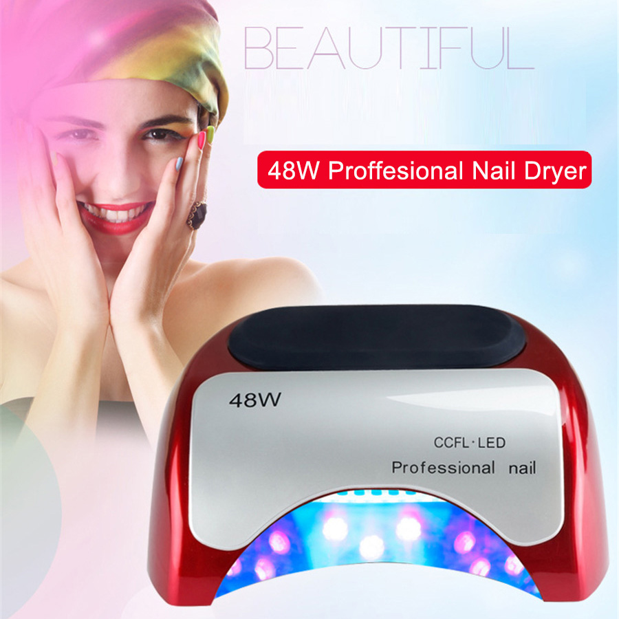 48W LED Nail Lamp Professional Slide Desigh Auto Sensor Nail Dryer Curing Drying Gels Polish Suitable Home Use Nail Art Tools shanghai kuaiqin kq 5 multifunctional shoes dryer w deodorization sterilization drying warmth