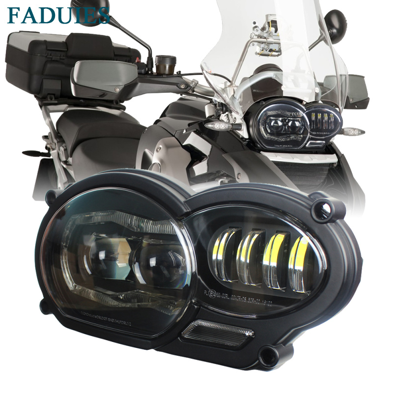FADUIES Motorcycle LED Headlight For BMW R1200GS R1200 GS Adv R1200GS LC 2004-2012 (fit Oil Cooler)
