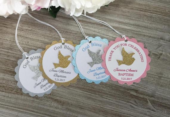 Custom Name Dove First Communion Christening Favor Baby Shower Gift