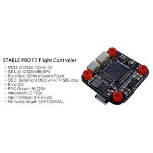 Image 5 - GEPRC Istikrarlı Pro F7 ÇIFT BL 35A Flytower/Kararlı V2 F4 uçuş kontrolörü + 35A/30A ESC + 5.8G 500mW VTX FPV Yarış Drone için