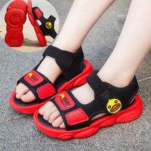 Летняя детская обувь; мягкие сандалии для маленьких мальчиков; Повседневная Удобная обувь для девочек; спортивные сандалии; мягкие Нескользящие сандалии на утином пуху