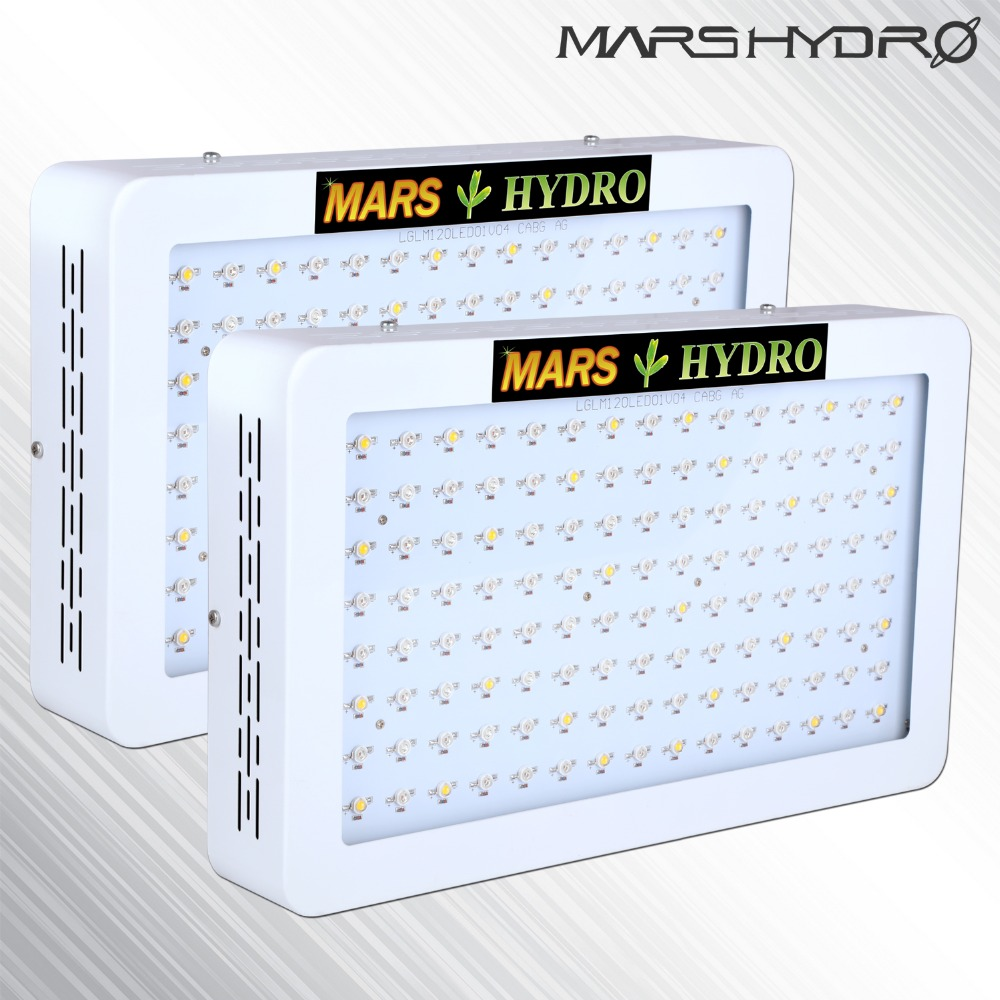 2pcs MarsHydro 600W full spectrum LED Grow Lights Hydroponics Panel for Indoor Garden