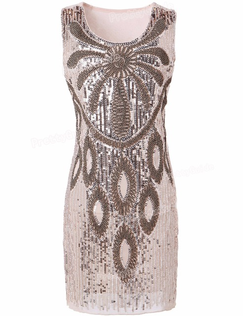 PrettyGuide Женщины 20 s Art Deco Гэтсби Блесток Бисером Макси Цветок Чарльстон Платье Распутница Костюм