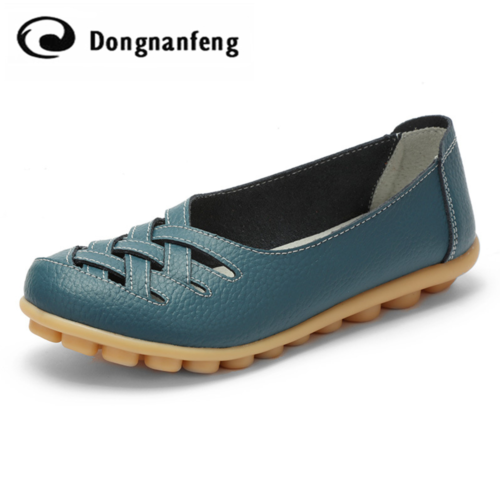 dongnanfeng Women Female Shoes Flats Spring Slip On