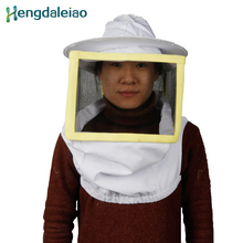 HDPH-001 100% Cotton Square Bee Protective Hat with Veil/Beekeeping Hat/Protective for Beekeeper